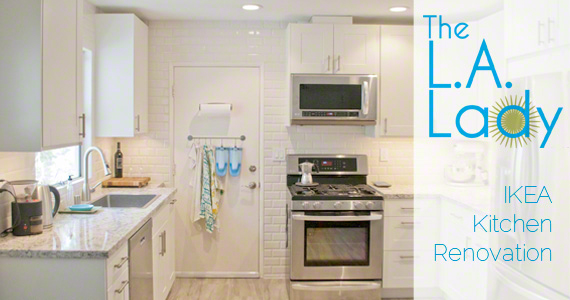 The LA Lady's IKEA Adel DIY Kitchen